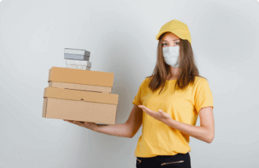 delivery woman image
